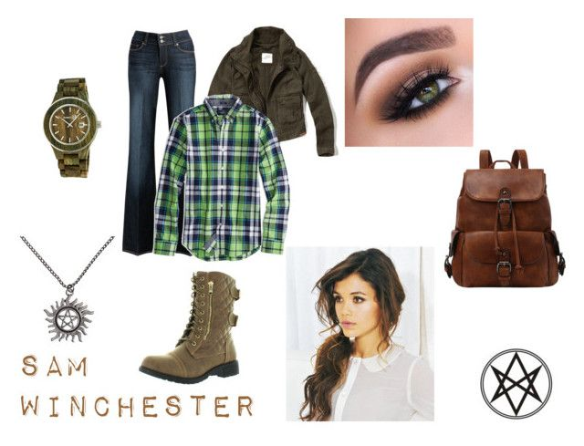 """Inspiration:Sam Winchester"" by backwoodsbeautyqueen94 on Polyvore featuring Abercrombie & Fitch, Paige Denim, American Eagle Outfitters, Top Moda, Hot Topic, Earth, supernatural and samwinchester"