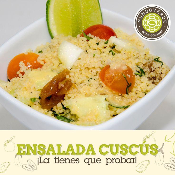 Este Miércoles, te invitamos a disfrutar de una deliciosa #EnsaladaCuscusMundoVerde ¿Qué te parece? #PlatosMundoVerde