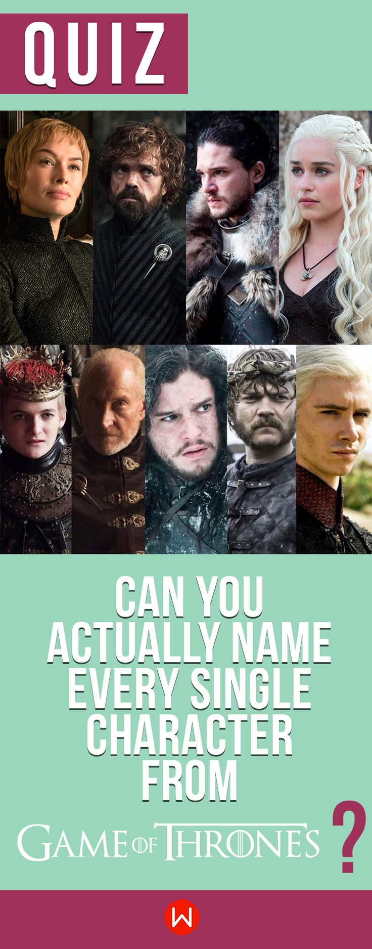 Quiz: Can you name EVERY Game of Thrones character? TV Show Quiz, Tv Show Trivia, GoT Quiz, Game of Thrones Test, Buzzfeed Quizzes, Playbuzz Quiz