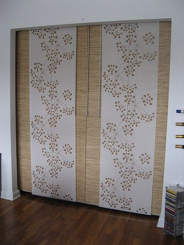 Ikea Kvartal Curtain Panels As Closet Door.