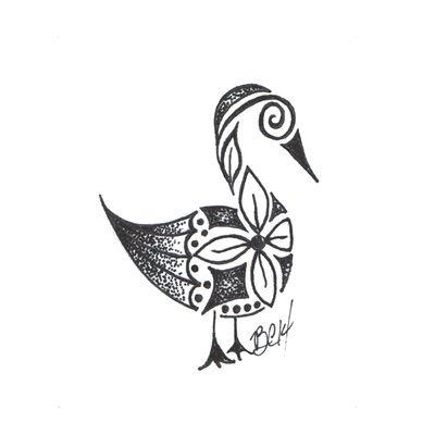 Ornate goose Art Print