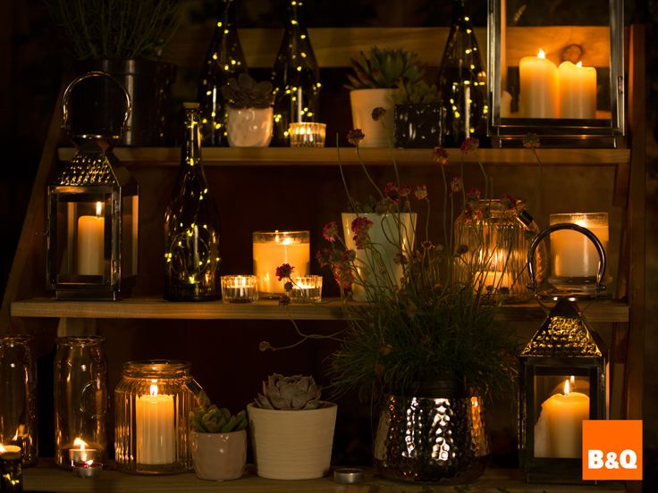 Arrange Candles Jars And Lanterns On Ledges Or Shelves Around Your Garden To Create This