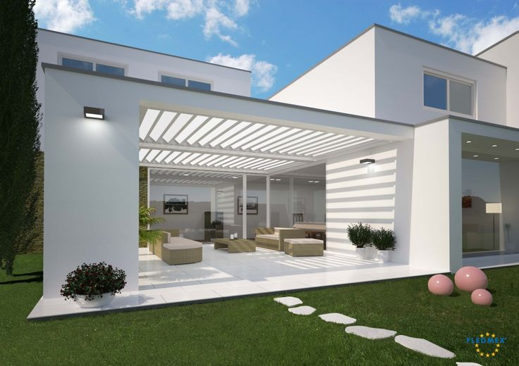 Bilder und Referenzen FLEDMEX Lamellendach für unterschiedliche Montagesituationen. Terrasse, Balkon, Garten, Restaurant - das vielseitige Allwetterdach!
