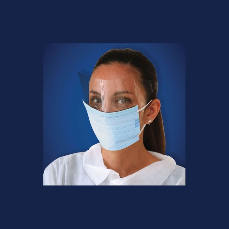 Ear Loop Face Mask w/Shield, White, 25 Count * This is an Amazon Affiliate link. Continue to the product at the image link.