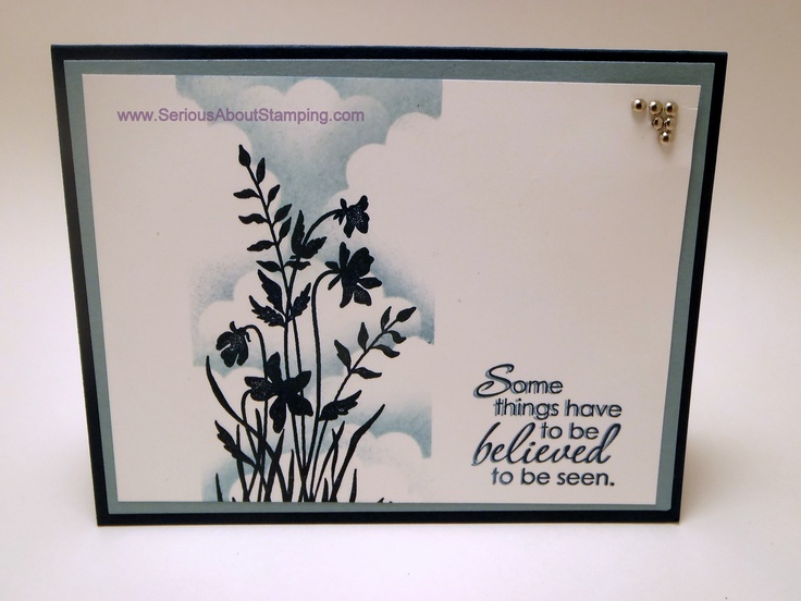 Shimmer scallop cloud card by Charmaine