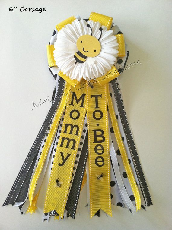 Bumble Bee Baby Shower Corsage By Littlecreationz On Etsy 1500