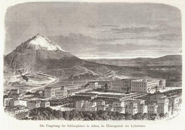 1887, Syntagma Square and Lycabetttus  - SCHWEIGER LERCHENFELD, Amand von