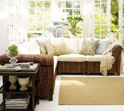 Featured. Inspiring Featured Vintage Makeover Home Ideas With Cement Flooring Tile Concept Also Rattan Sofa Bed Featured: Attractive Featured Of Rattan Sunroom Design Ideas With White Puffy Cushions And Cream Carpet For Beautiful Room ~ wegli