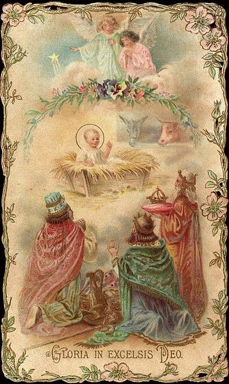 Old Christmas Post Сards — The Nativity (448x750):