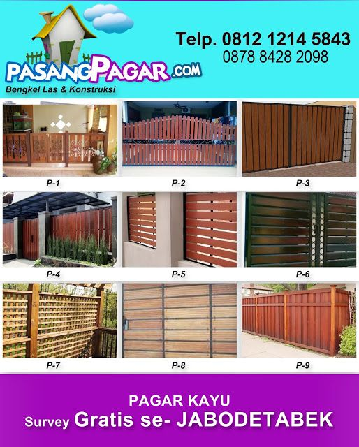 Spesialis Pagar Kayu: Pagar Kayu : dengan kayu berkwalitas dan design se...