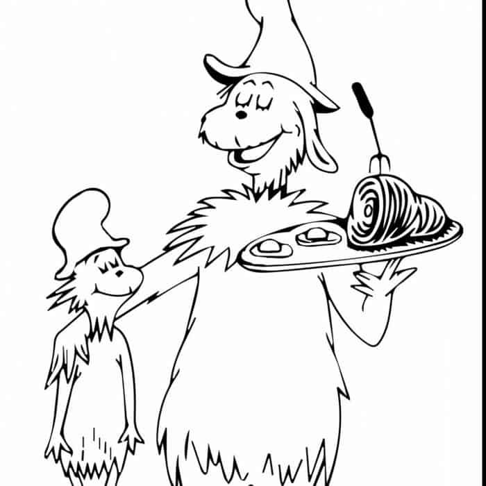 Cat In The Hat Christmas Coloring Pages Dr Seuss Coloring Pages Cartoon Coloring Pages Christmas Coloring Pages