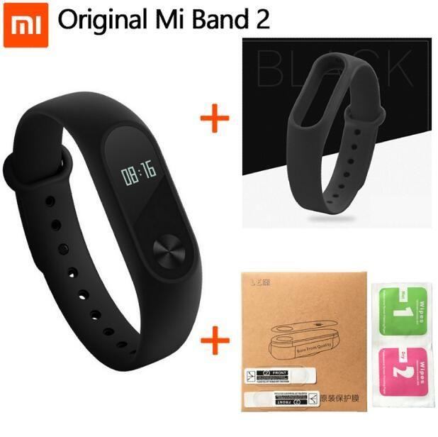 100 Xiaomi Mi Band 2 Smart Wristband Bracelet Miband2 Heart Rate Fitness Touchpad Wristband Bracelet Wristband Xiaomi