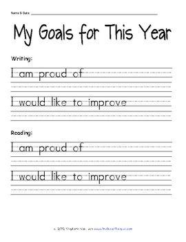 FREE Student Goal-Setting Sheet