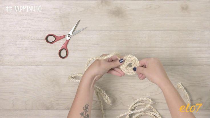 ¿Cómo hacer un posa pava de hilo sisal? #DIYMINUTO