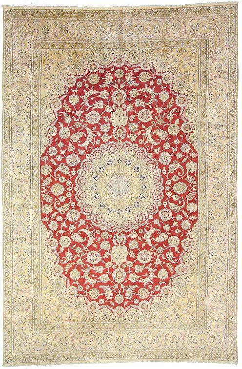 401cm x 599cm Burgundy Nain Persian Rugs