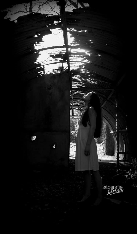 Shadow. Sunlight. Dark. Photo. Photography. White dress