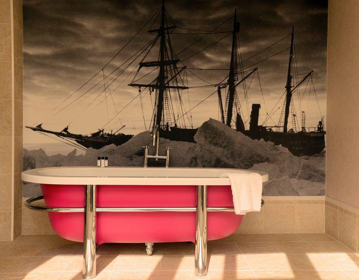 Shackleton suite #bathtub in Channings #hotel #edinburgh #luxury