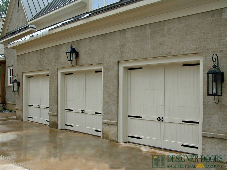 decorative hardware for your custom wood garage doors