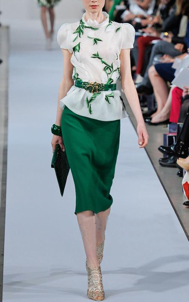 #storenvy #office #dress Girls Dresses | Elegant slim green business suit / embroidery dress #coniefox #2016prom