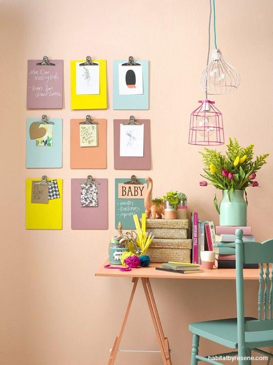 Idea para decorar útil. (Para poner facturas a pagar, descuentos de súper, lista de compras, etc.)