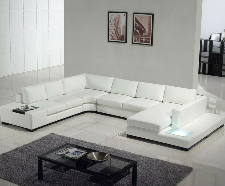 Tosh Modern Leather Sectional Sofa With Built In Light. Find This Pin And  More On Living Room Sets ...