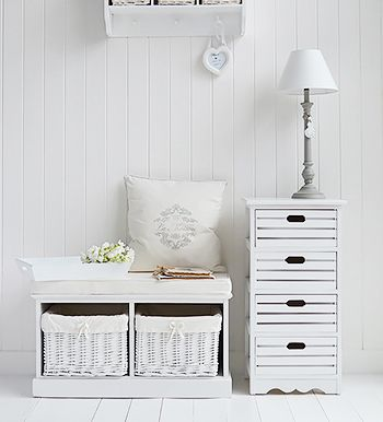 Interior Storage Solutions For Your Country Cottage Home. White Storage  Furniture. Country Shabby Chic