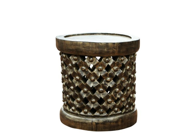 Royal Cameroinian Bamileke 'Tabouret'/Stool | Authentic traditional and cultural global products. 100% hand crafted. All logs are dried naturally and may have cracking, checking, beetle excavat... view details on www.treniq.com