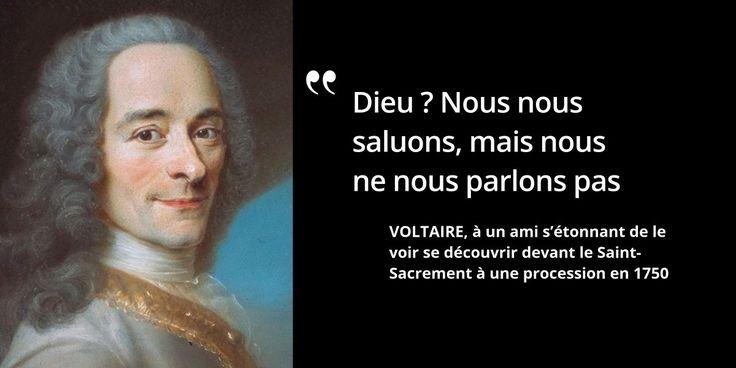 Déiste, et non athée, #Voltaire trouve la religion nécessaire, pour donner des règles #histoire de #France en #citations