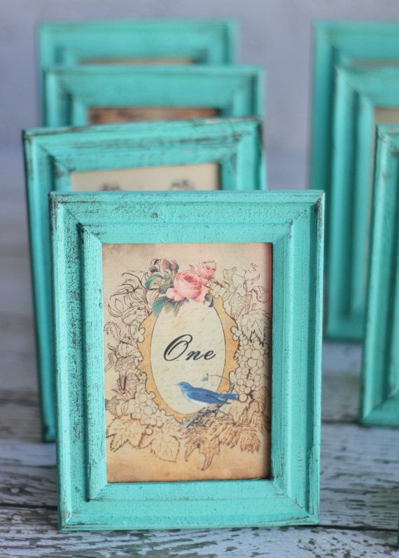 Shabby Chic Table Numbers Vintage Inspired Wedding SET of 12 (item P10138) on Etsy, $120.00