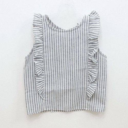 Faon Stripe Blouse (2C) — jujubunnyshop