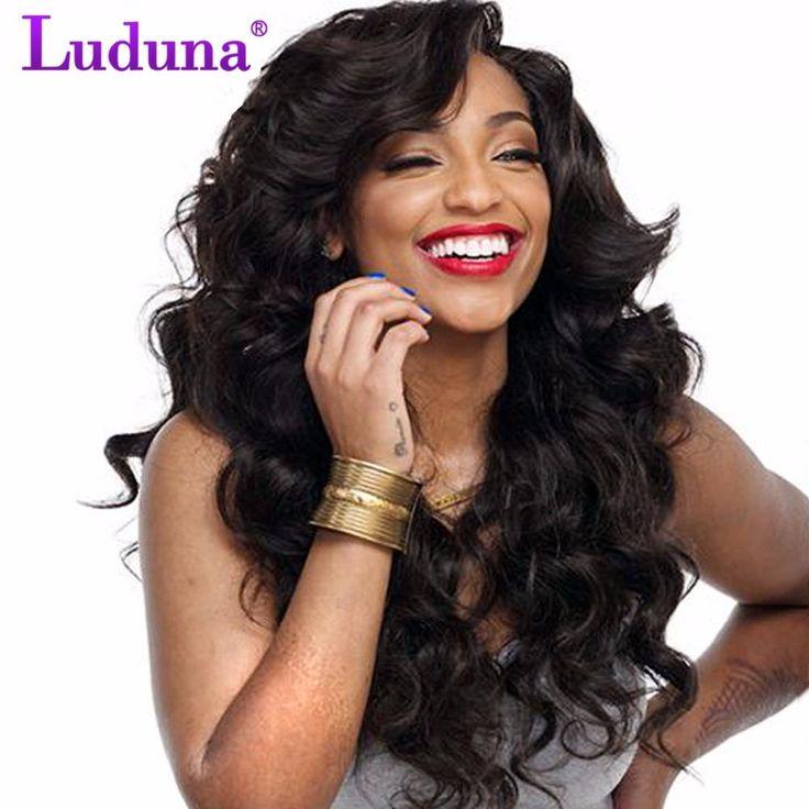 Luduna Loose Wave Brazilian Hair Weave Bundles 100% Human Hair Weave Bundles Natural Black Color Non-remy Hair Extension