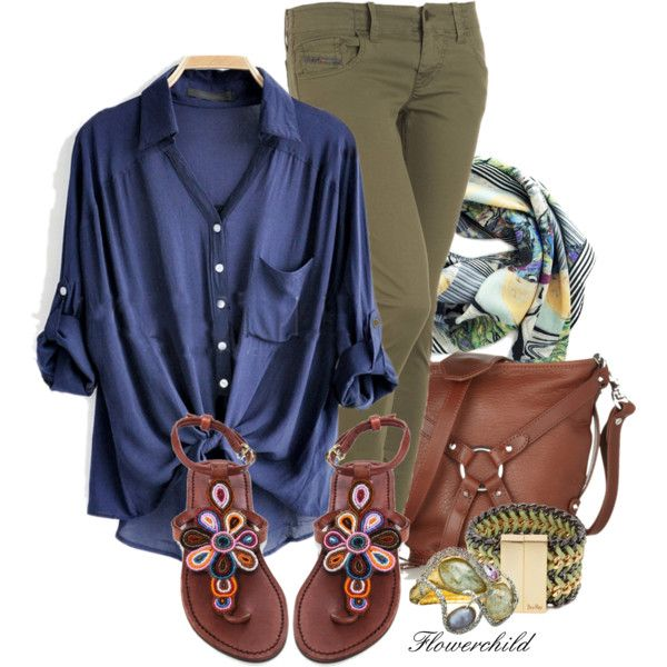 Khaki and BlueBigger Closets, Casual Outfit, Blue, Outfit Inspiration, Fall Winte Closets, Khakis Hiker, Flowerchild805, Polyvore Outfit, Dreams Closets
