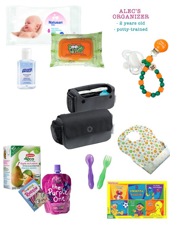 Mini Piccolini - What to pack in a stroller organizer for a 2-year old