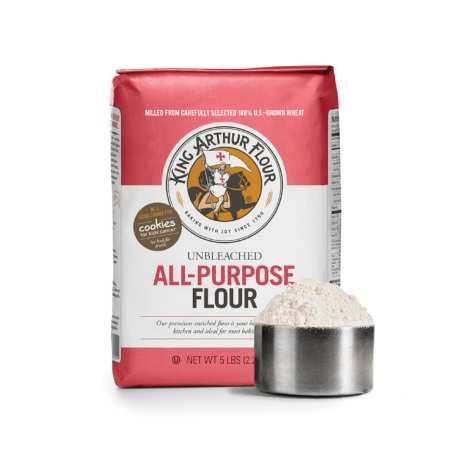 King Arthur Unbleached All-Purpose Flour - the best flour for cookie baking and love the fact that it is unbleached