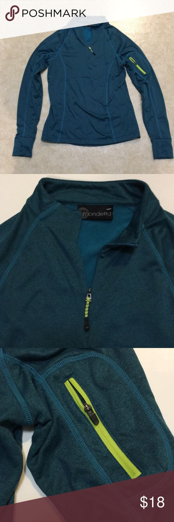 Mondetta pull over Mondetta women's 1/4 zip activewear pullover.  Gently used with normal wear but no rips or stains. Very comfy with a soft inner lining. 1/4/18 Mondetta Tops Sweatshirts & Hoodies