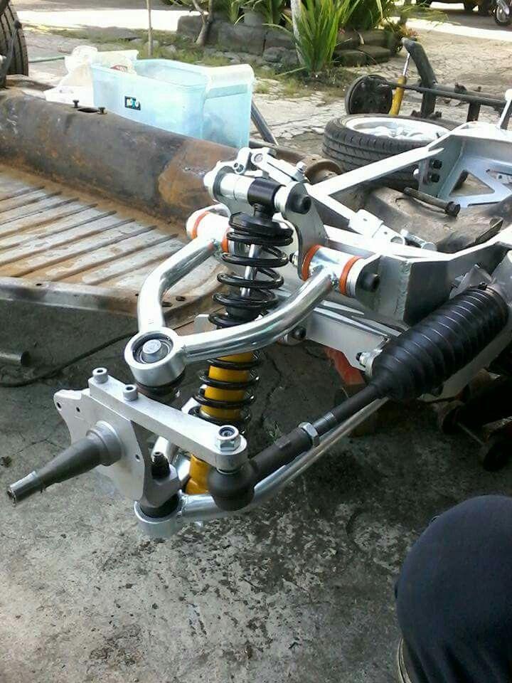 Suspensão dianteira customizada para Fusca