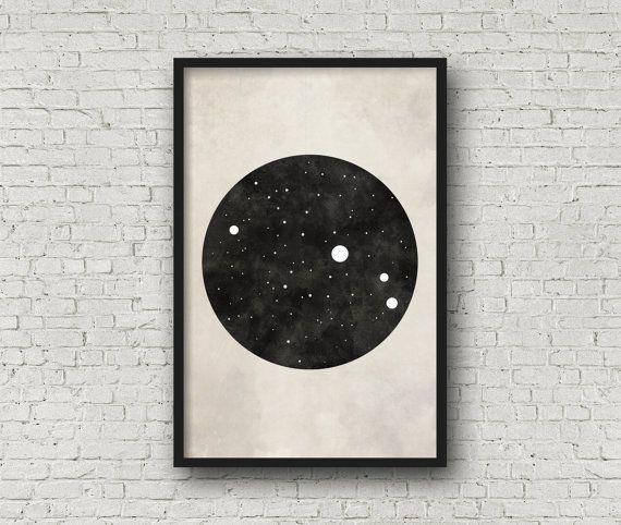 Aries Constellation Art Art Print Poster Wall by blackandthemoon