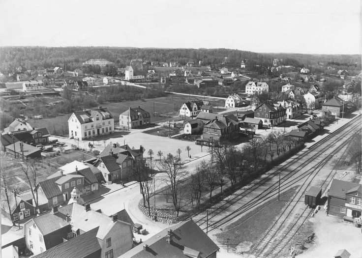 Flygfoto över Tyringe omkring 1922
