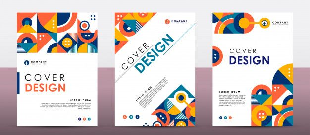 Colorful Retro Cover Template Geometric Shapes Background Geometric Background Geometric Shapes