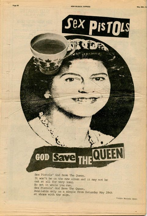 Advert for the Sex Pistols' 'God Save The Queen' in NME, London: May 28, 1977