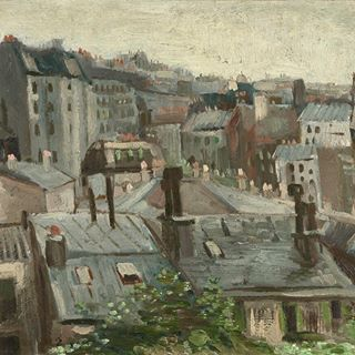 "Vincent van Gogh; ""View of Paris roofs from Studio"""