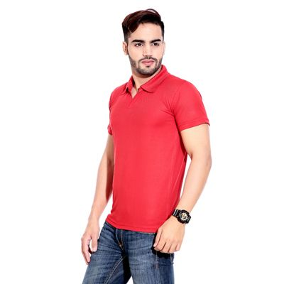 Buy Rajadhani Red Polyester T-Shirt (Size-S) by Rajadhani Knitwear, on Paytm, Price: Rs.275