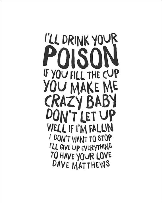 Dave Matthews Band  Break Free Print by KNY5 on Etsy, $10.00