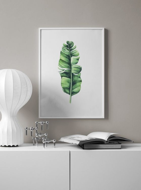 Banana leaf aquarelle Poster in the group Prints / Sizes / 50x70cm | 20x28 at Desenio AB (10071)