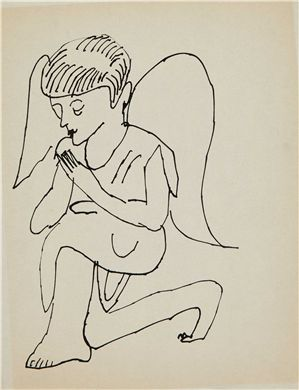 Andy Warhol,angel, ca 1954.