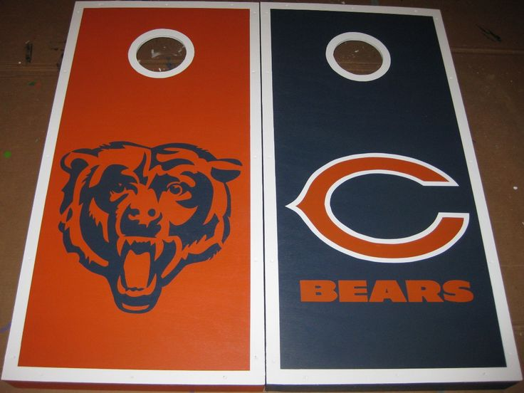 Hand Painted Chicago Bears Cornhole Boards