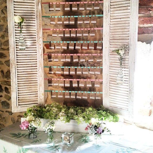 plan de table fleuri kraft et pastel wedding. Black Bedroom Furniture Sets. Home Design Ideas