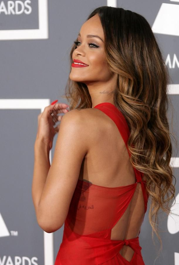 Rihanna-dress-2013-GRAMMY-Awards , Ombre hair. Definitely doing this.