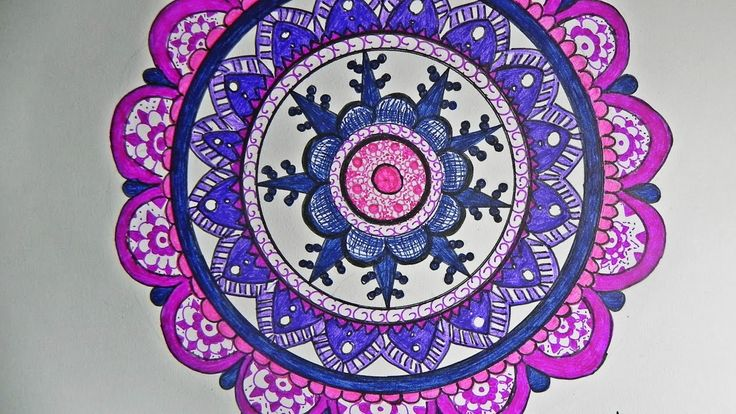 Speed Painting: Pink & Violet Mandala #1