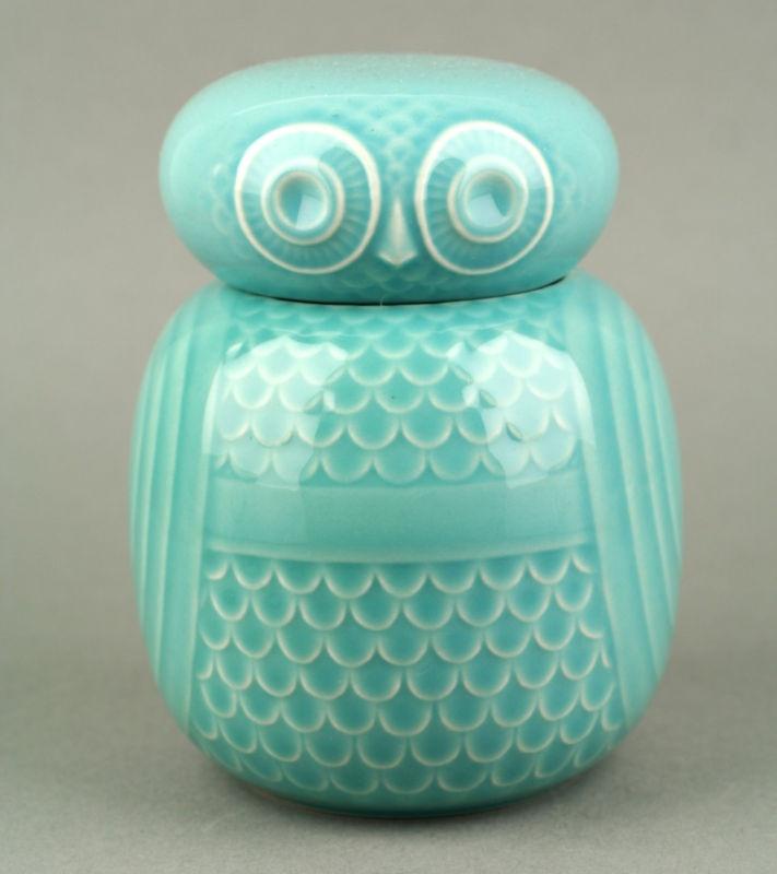 hornsea pottery owl storage jar